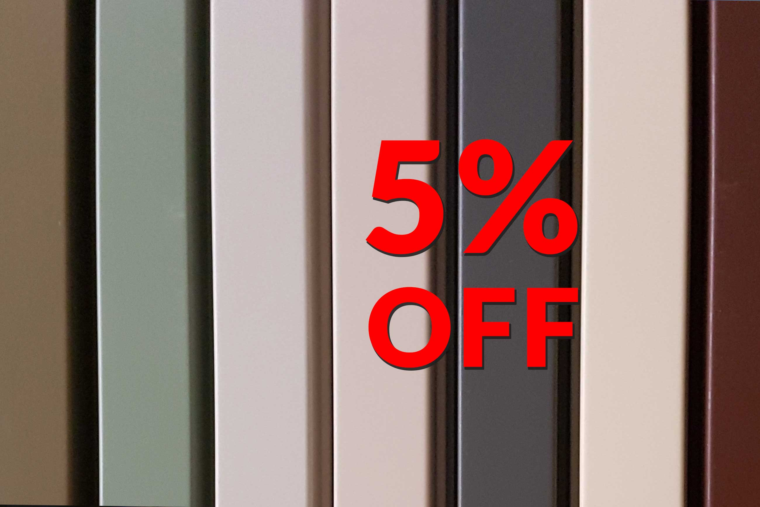 Special 5% off any quote